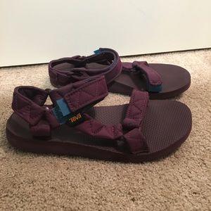 Purple TEVAS sandals
